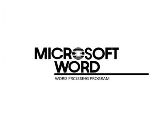 Microsoft Word Logo-1983