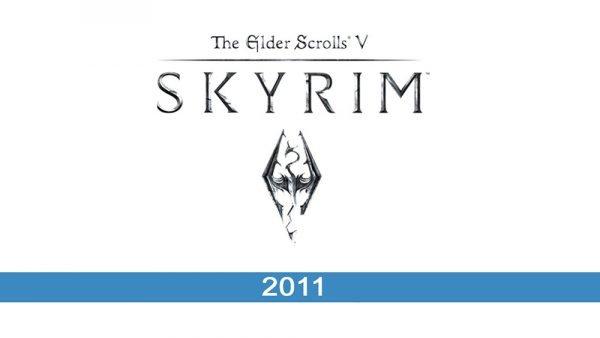 Skyrim logo historia