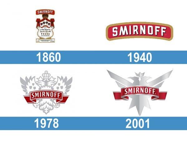 Smirnoff logo historia