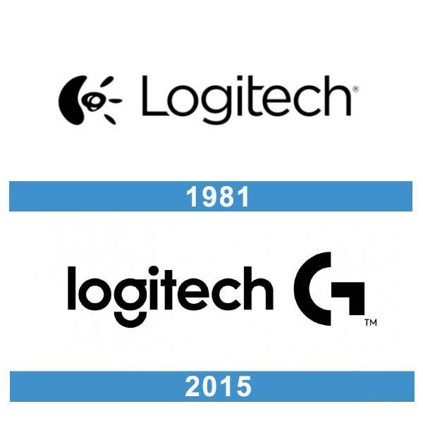 Logitech logo historia