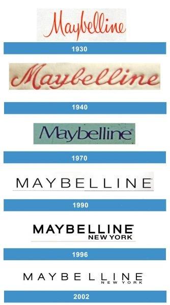 Maybelline logo historia
