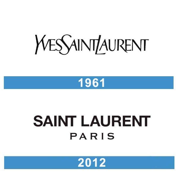 Saint Laurent logo historia