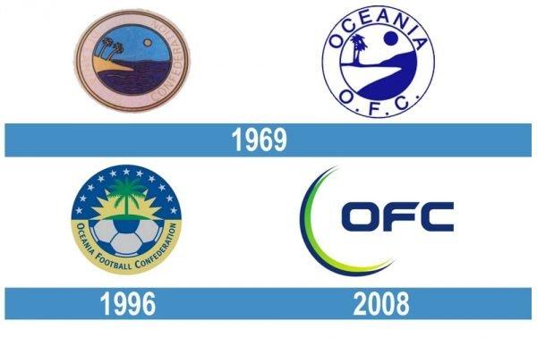 Oceania Football Confederation logo historia