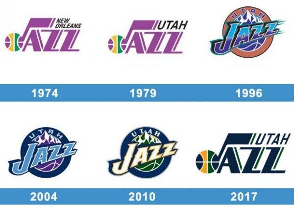 Utah Jazz logo historia