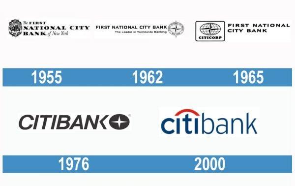 Citibank historia logo