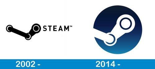 Steam Logo history
