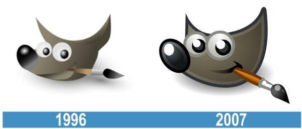 Gimp historia logo