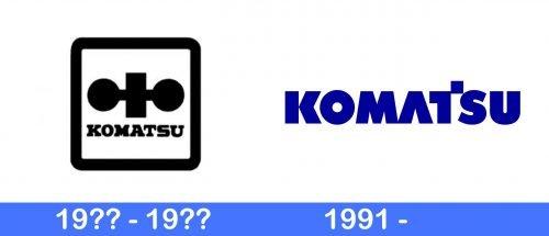 Komatsu Logo history