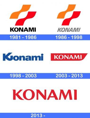 Konami Logo history