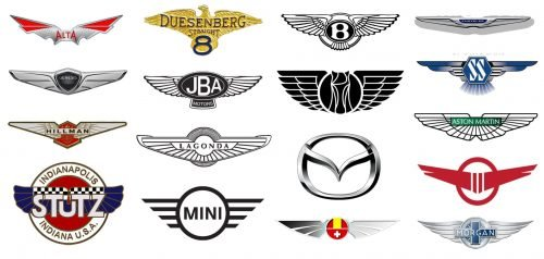 Alas en coche Logos
