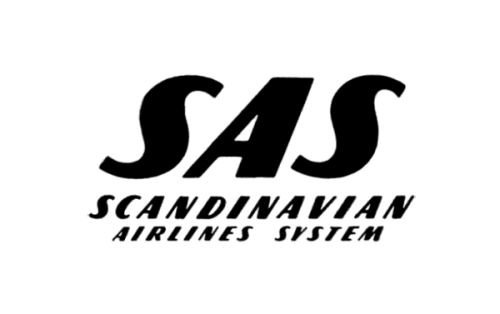 Scandinavian Airlines System logo Antes