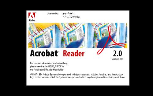 Adobe Acrobat Logo 1994