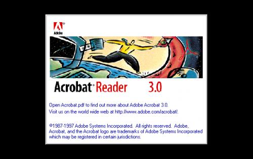 Adobe Acrobat Logo 1996