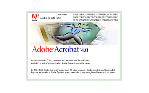 Adobe Acrobat Logo 1999