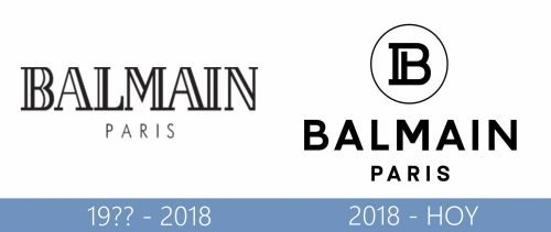Balmain Logo historia