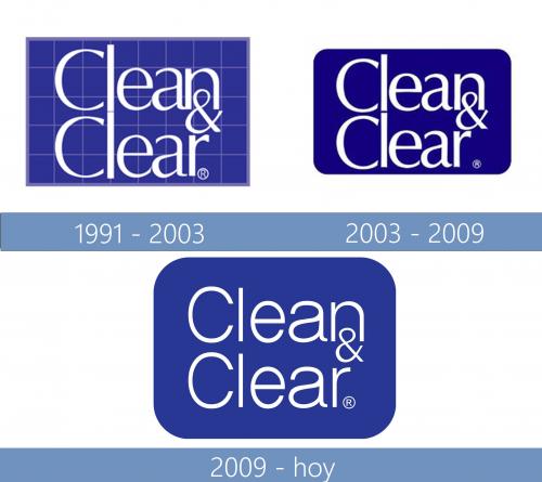 Clean Clear Logo historia