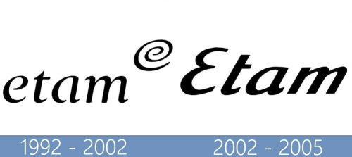 Etam logo historia