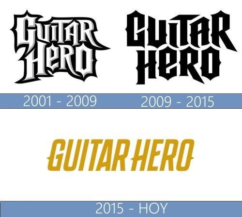 Guitar Hero logo historia