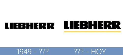 Liebherr logo historia