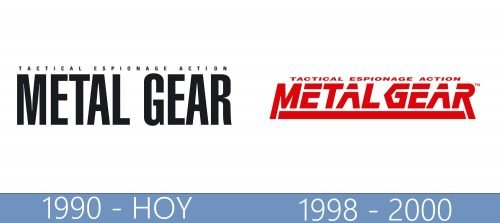 Metal Gear logo historia