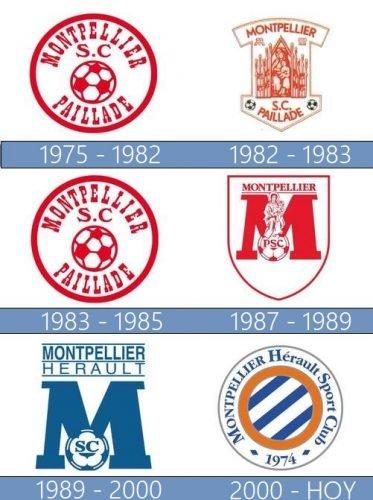 Montpellier logo historia