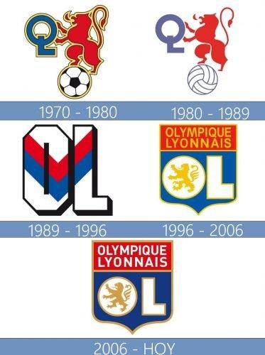 Olympique Lyonnais logo historia