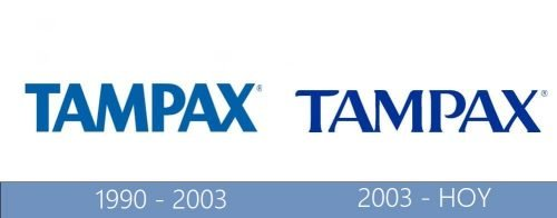 Tampax logo historia