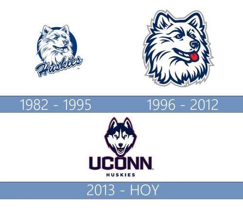 uconn huskies logo historia