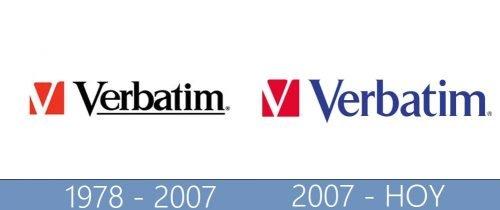 Verbatim logo historia