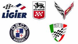Insignias de coche con banderas