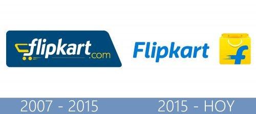 Flipkart logo historia