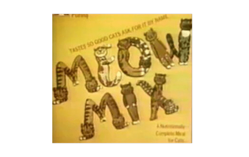 Meow Mix Logo 1974