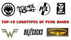 Top-10 logotipos de bandas punk