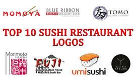 Top 10 logotipos de restaurante sushi