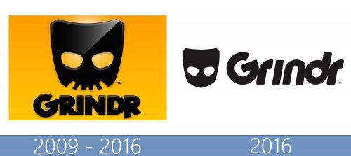 Grindr Logo historia