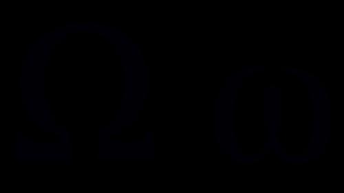 omega greek symbol