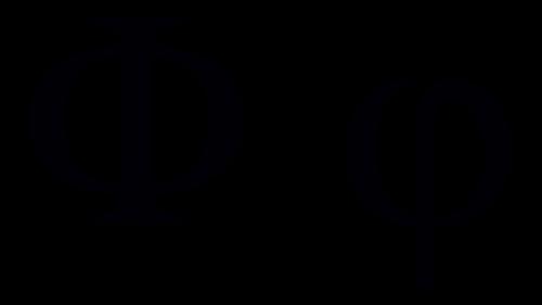 phi greek symbol